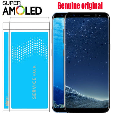 100% ORIGINAL SUPER AMOLED S8 LCD with frame for SAMSUNG Galaxy S8 G950 G950F Display S8 Plus G955 G955F Touch Screen Digitizer
