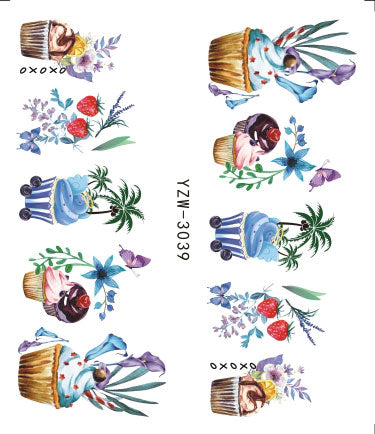 3D Embossed Nail Sticker Flower Adhesive DIY Manicure Slider Nail Art Tips Decorations Decals