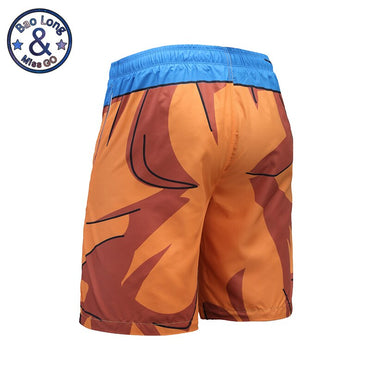 Mr.BaoLong 3D Mens Beach Shorts Anime Print Dragon Ball GOKU Harajuku Boardshorts Hombre Plus Size S-3XL