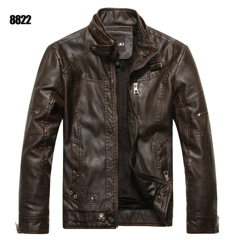 New arrive brand motorcycle leather jacket men men's leather jackets jaqueta de couro masculina mens leather coats