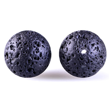 DIY Black Volcanic Lava Beads Lava Stone Beads Round Volcanic-Stone Wholesale Natural Stone Beads for Jewelry Making 4-14mm