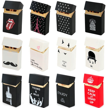 Hold 20 Cigarettes Ladies Silicone Cigarette Case Cover Man Women Smoking Cigarette Box Sleeve Pocket Cigarettes Pack Cover Gift