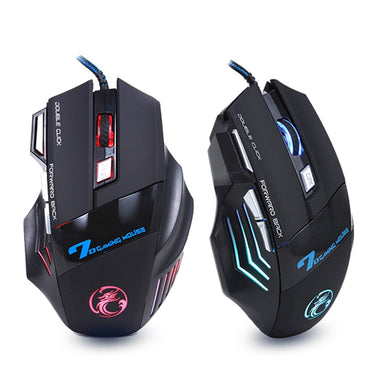 Ergonomic Wired Gaming Mouse 7 Button 5500 DPI LED USB Computer Mouse Gamer Mice X7 Silent Mause With Backlight For PC Laptop