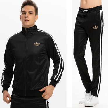 Casual tracksuit Set Men Fashion 2019 Jogger Sports Sportswear Suits Spring Autumn Two Pieces  Set Male Sweat Suit