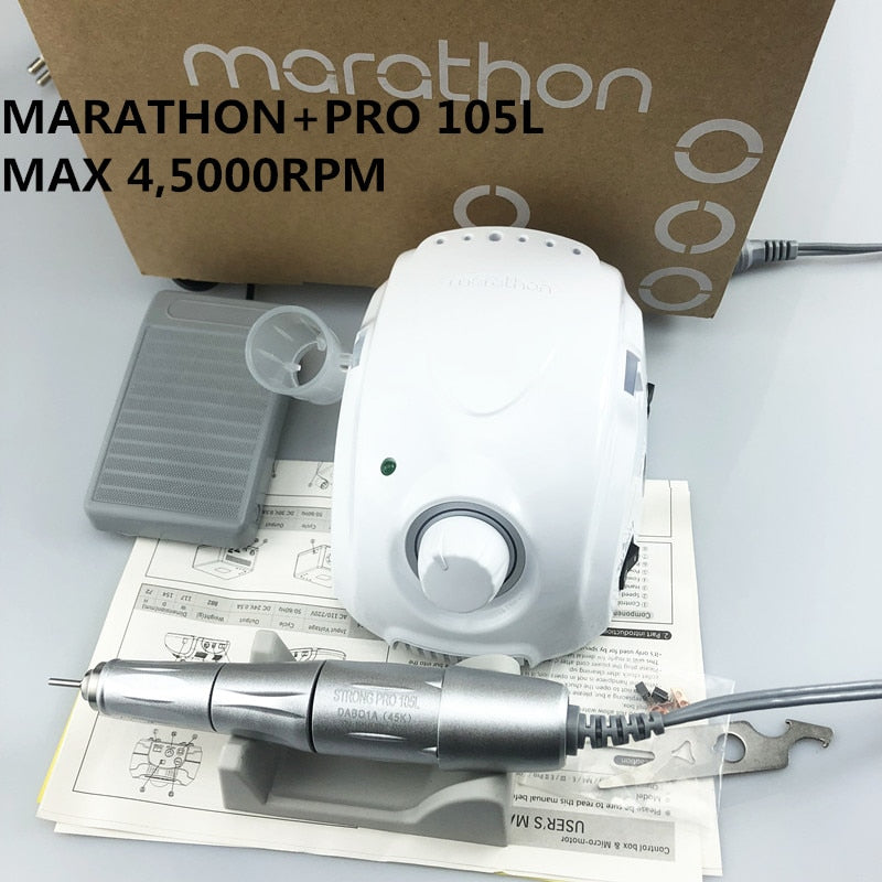 NEW STRONG MARATHON champion-3 Strong 210 PRO 105L  Handle 45000/50000 rpm Electric Nail Drill FORTE 210 Nail art Tool new