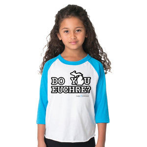 Toddler/Youth Raglan 3/4 Sleeve Do You Euchre T-Shirt