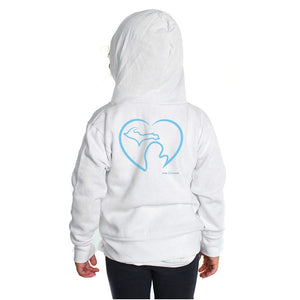 Toddlers' White Zip-Up Hoodie w/Michigan Love Graphic