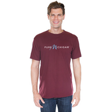 Load image into Gallery viewer, Burgundy 100% Cotton T-Shirt with Pure Michigan Logo