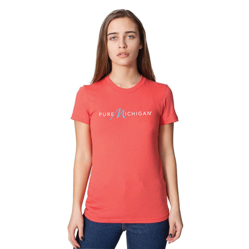 Women's Radish 100% Organic Cotton T-Shirt with Pure Michigan Logo