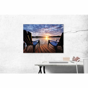 Lounging on the Dock - Pure Michigan Canvas