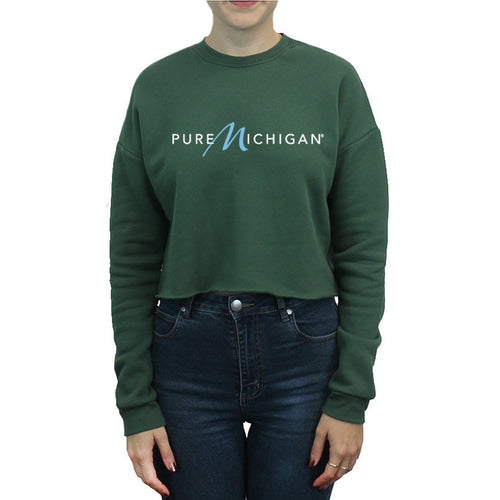 Women's Crewneck Fleece Crop