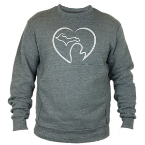 "Grey ""Michigan Love"" Sweatshirt"