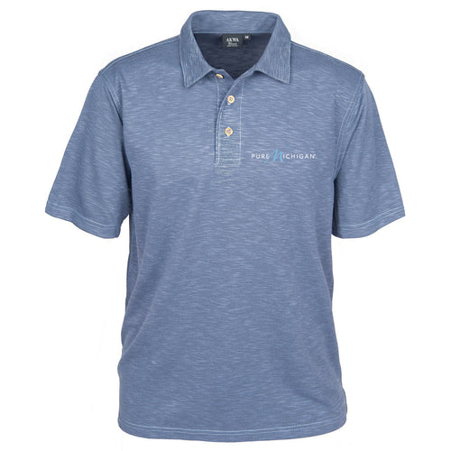 Men's Blend Polo w/Pure Michigan Logo