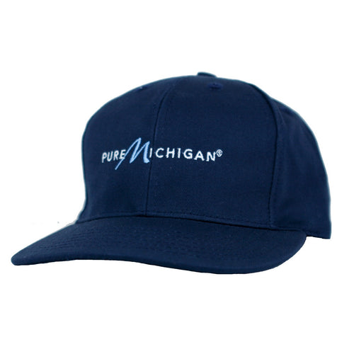 Navy Blue Structured Hat with Pure Michigan Logo