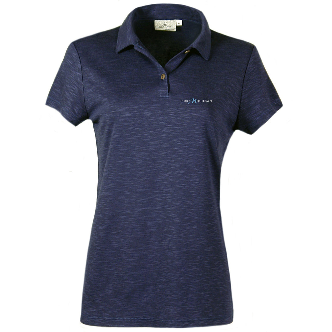 Women's Blend Polo w/Pure Michigan Logo