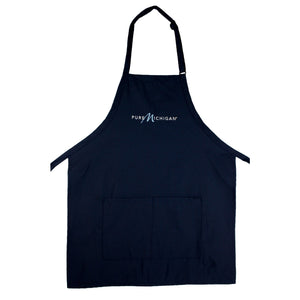 Navy Blue Apron with Pure Michigan Logo