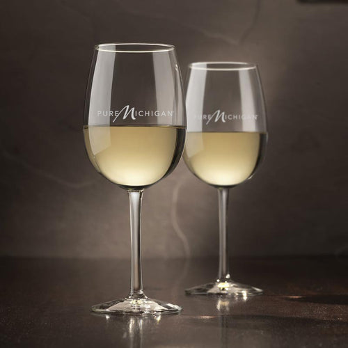 16 oz. Pure Michigan Logo Wine Glasses