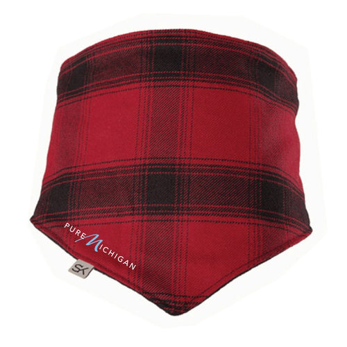 Stormy Kromer Outsider Bandana Red/Black w/Pure Michigan Logo
