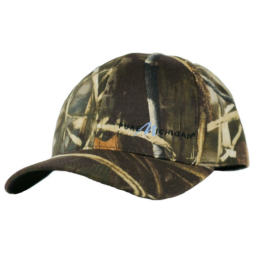 Camouflage Baseball Hat with Pure Michigan Logo