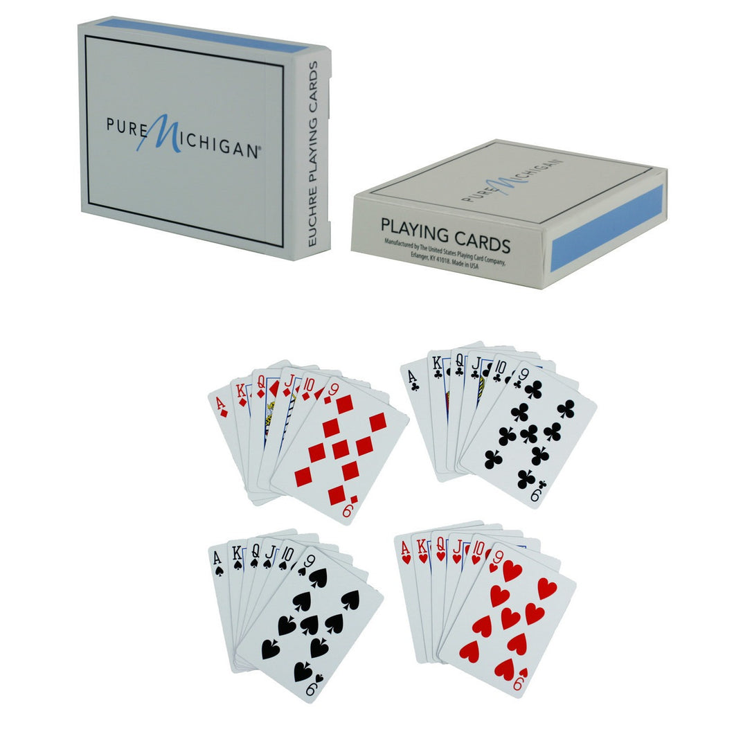 Pure Michigan Euchre Playing Cards - Each Pack Contains Two Euchre Decks