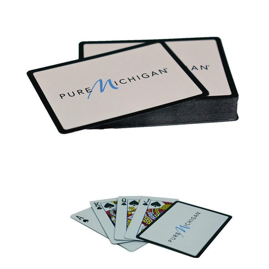 Playing Cards with Pure Michigan Logo - Black