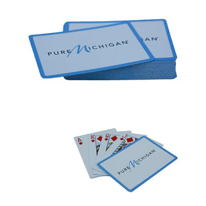 Playing Cards with Pure Michigan Logo - Blue