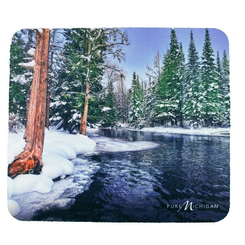 Winter Scenery Mouse Pad - Pure Michigan