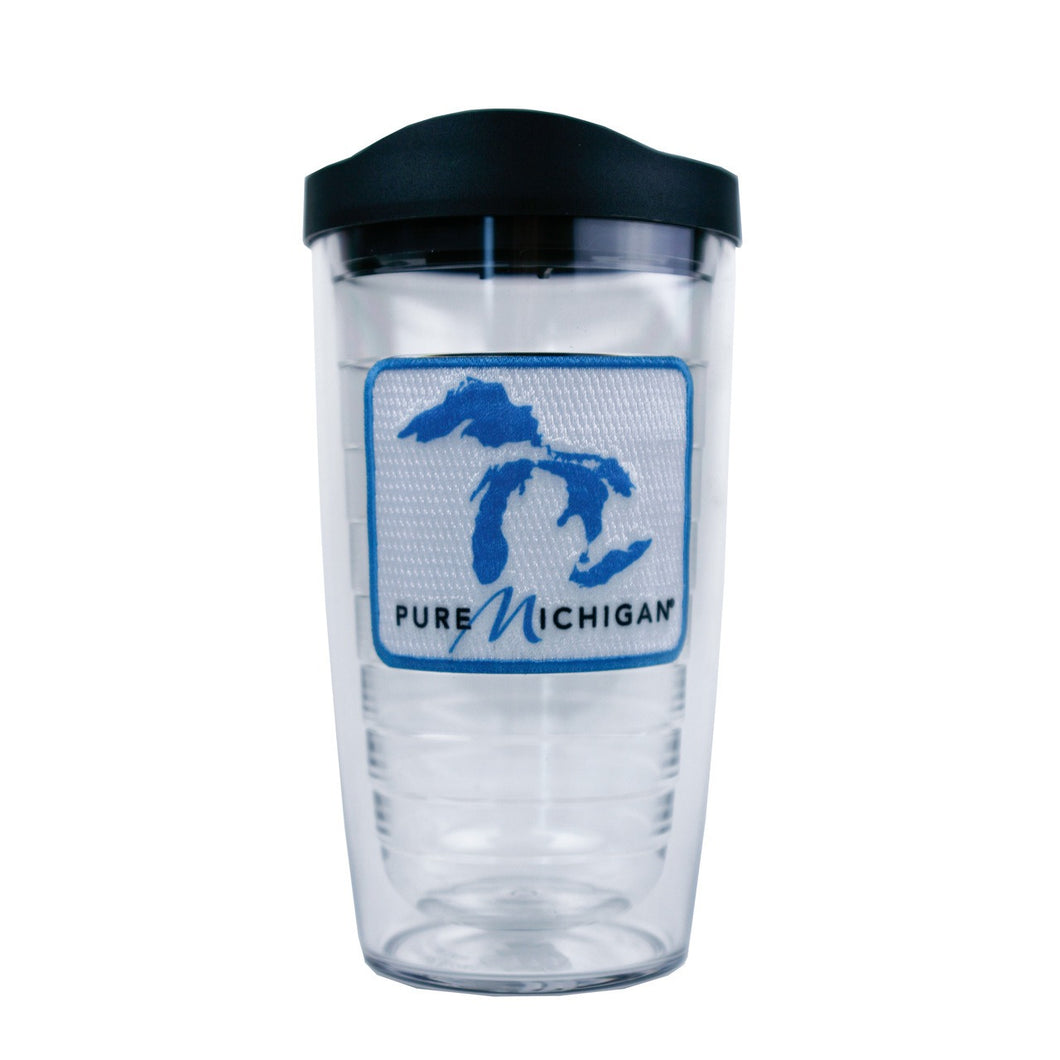16 oz. Pure Michigan Blue Logo Tervis Tumbler with Lid