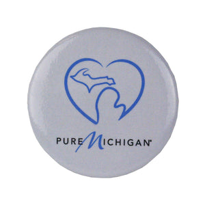 Round Button Magnet - Pure Michigan Heart Logo