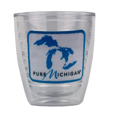 Load image into Gallery viewer, 12 oz. Tervis Tumbler with Blue Pure Michigan Logo