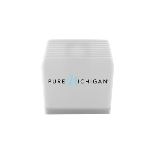 2 inch White Pure Michigan Logo Memo Clip