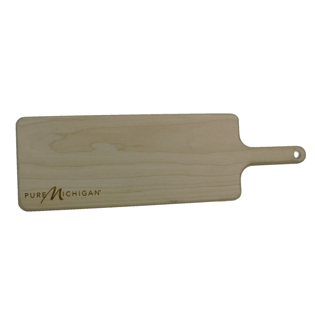 Pure Michigan Bread Board - 5 inch by 16 inch by 5/8 inch to 3/4 inch thick