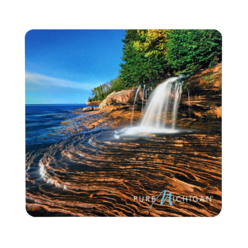 Pure Michigan Mouse Pad with Elliot Falls and Logo