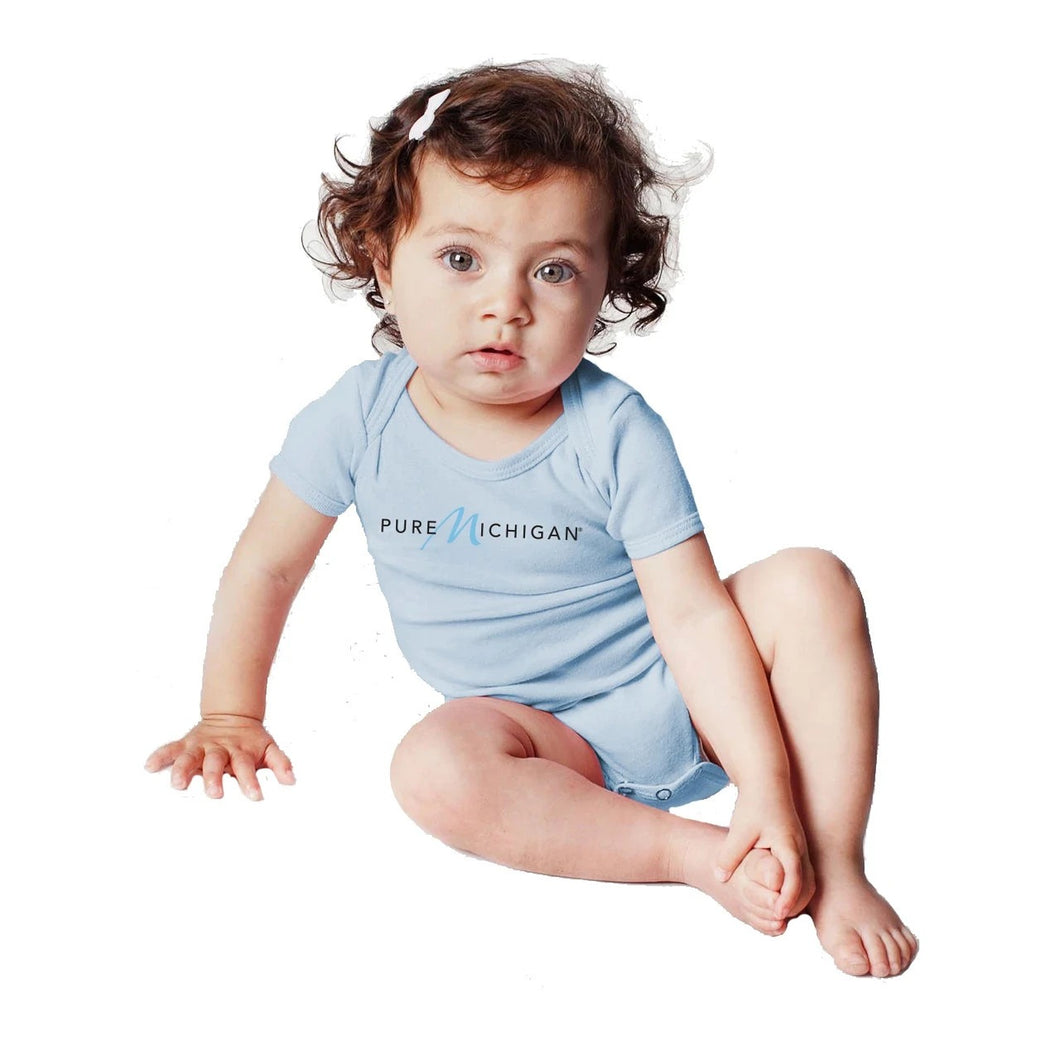 Sky Blue Pure Michigan Infant Onesie