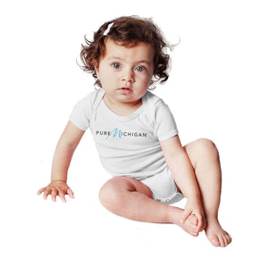 White Pure Michigan Infant Onesie