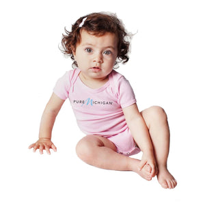 Pink Pure Michigan Infant Onesie