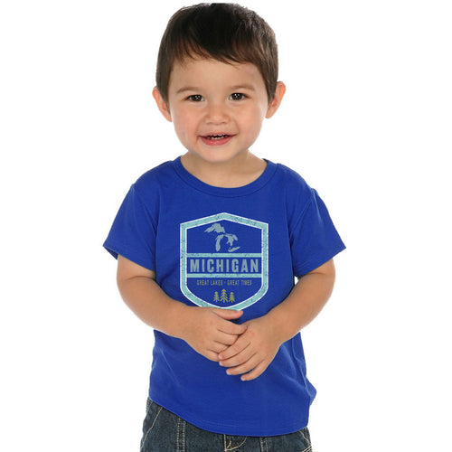 Toddler Blue MI Shield T-Shirt