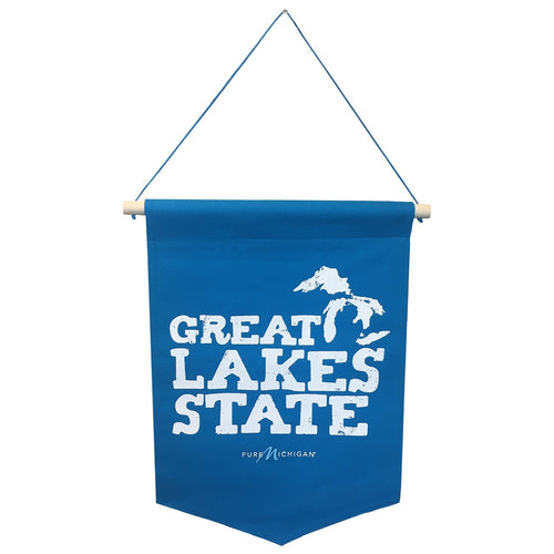 Great Lakes State Pure Michigan Wall Banner - 13.75 inches by 19 inches