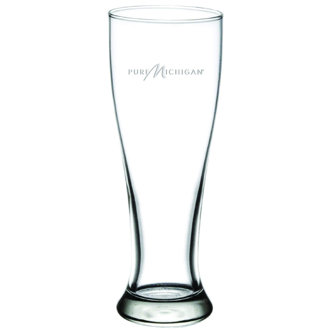 16 ounce Pure Michigan Logo Tall Pilsner Glass