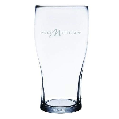 16 ounce Pure Michigan Logo Pilsner Pub Glass