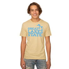 Load image into Gallery viewer, Blue Great Lakes State 50/50 T-Shirt