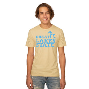 Blue Great Lakes State 50/50 T-Shirt