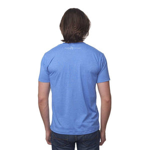 Sea Blue 50/50 Blend T-Shirt Reverse with White Pure Michigan Logo
