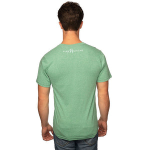 Kelly Green 50/50 Blend T-Shirt Reverse with White Pure Michigan Logo