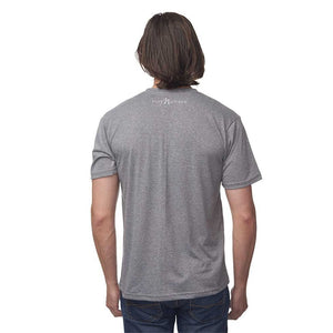 Charcoal 50/50 Blend T-Shirt Reverse with White Pure Michigan Logo