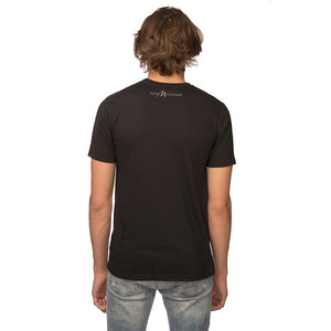 Black 50/50 Blend T-Shirt Reverse with White Pure Michigan Logo