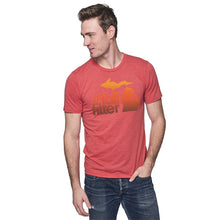 Load image into Gallery viewer, Cardinal 50/50 Blend T-Shirt w/Fall Filter Design
