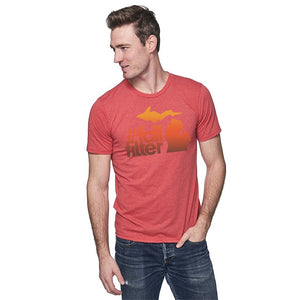 Cardinal 50/50 Blend T-Shirt w/Fall Filter Design