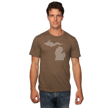 Load image into Gallery viewer, Unisex 50/50 Blend T-Shirt w/Simple Michigan Design