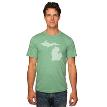 "Load image into Gallery viewer, Pure Michigan ""Simple Michigan"" design on Kelly Green"